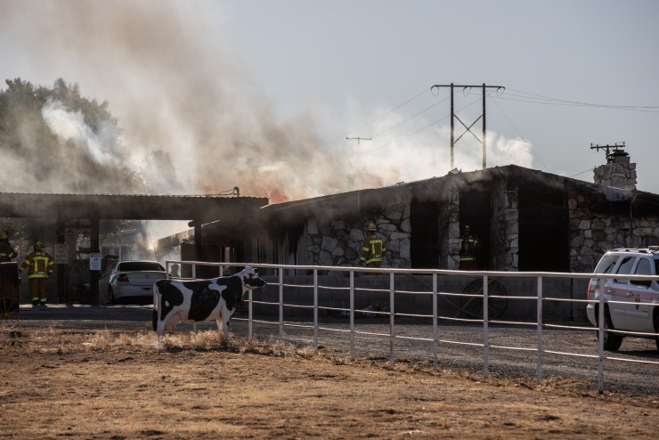 Sheriff's bomb & arson responded to conduct the investigation. (Hugo C. Valdez, Victor Valley News Group)