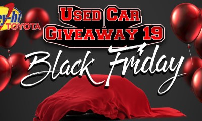 Valley Hi Toyota Used Car Giveaway 19 Black Friday event