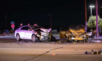 Two drivers in a head-on crash were airlifted to trauma centers. (Gabriel D. Espinoza, VVNG.com)