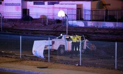 Victorville deputies investigated a rollover crash on Hesperia Road Thursday night. (Gabriel D. Espinoza, VVNG.com)