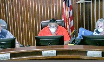 Mayor Reyes said he felt under the weather and opted for a mask during the Wednesday night meeting. (Screen grab; Adelanto City Council Meeting)