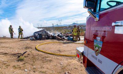 Victorville/ Oro Grande Motorhome Fire