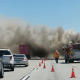 truck fire in the cajon pass