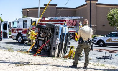 rollover crash on Amargosa Road in Victorville