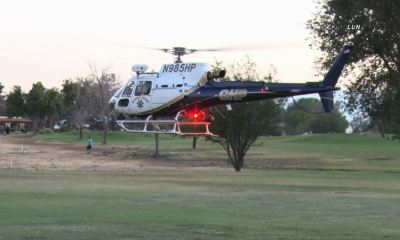 Two pedestrians were struck by a vehicle near the Apple Valley Golf Course on Sunday. (Photo courtesy of LLN)