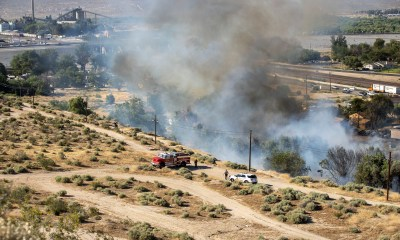 Brush fire in old town Victorville