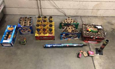 VV City Fireworks Task force confiscated these fireworks during a recent enforcement sweep. (courtesy photo)