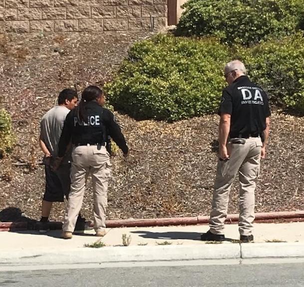 DA Officers arresting Leonides Edgardo Guzman. (Photo courtesy of Riverside County DA's Office)