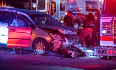 A motorcyclist was critically injured in a Tuesday night crash on Highway 18. (Hugo C. Mary's Valdez, VVNG.com)
