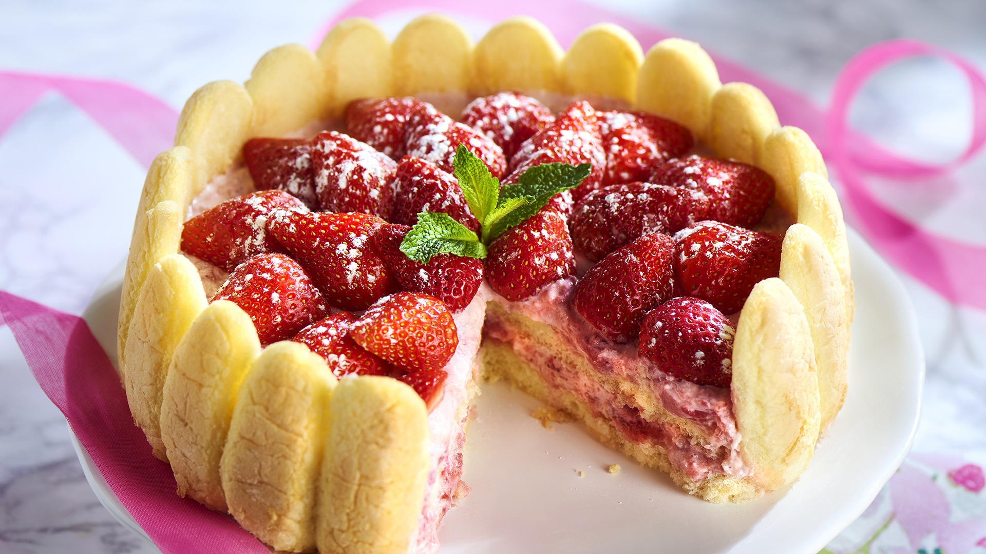 Quick Strawberry Cake Recipe