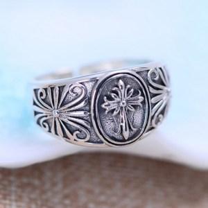 Men's Sterling Silver Cross Wrap Ring
