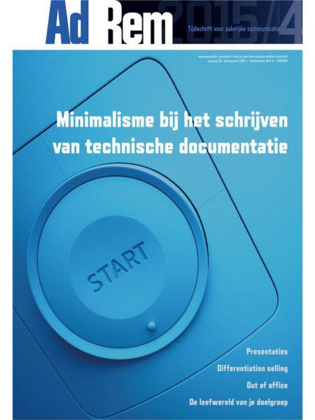 2015/4 – Minimalisme bij het schrijven van technische documentatie