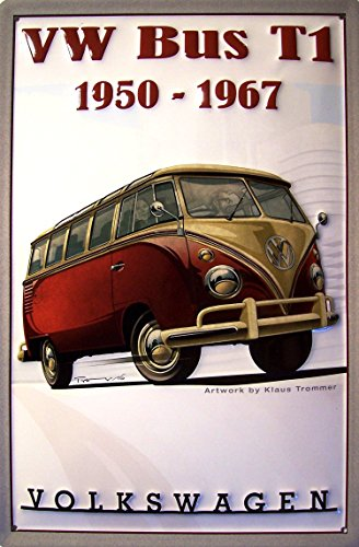 KEYRING VOLKSWAGEN T1 BULLI The Original Ride Double Sided by Nostalgic Art
