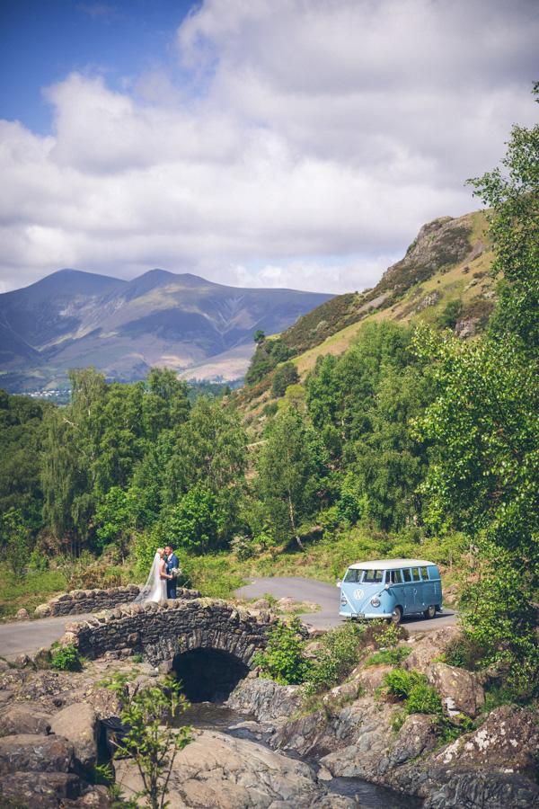 Ashness Bridge Wedding Car
