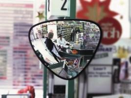 764399 Driehoekige Spiegel, Ø 330mm