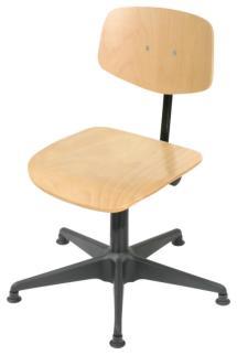 110574 Werkplaatsstoel,  standaardzitting natuur