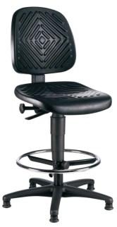 105216 Werkplaatsstoel,  standaardzitting zwart