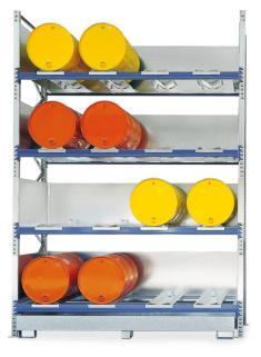 206332 Stelling Voor Gevaarlijke Stoffen,  v. 16x200l vat liggend