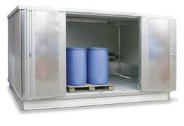 200412 container voor gevaarlijke stoffen,  geïsoleerd