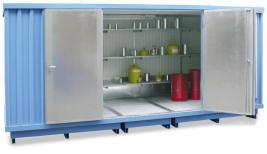 200417 container voor gevaarlijke stoffen,  geïsoleerd