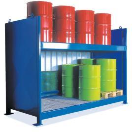 200665 Stellingcontainer V. Gevaarlijke Stoffen,  max. 20x200l vat