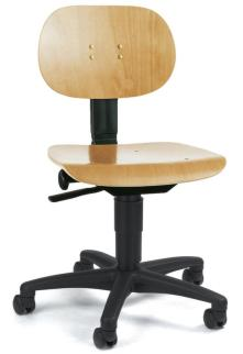 105205 Werkplaatsstoel,  standaardzitting natuur