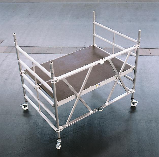 550486 Verrijdbare Klapsteiger,  platform BxD 1800x1200mm