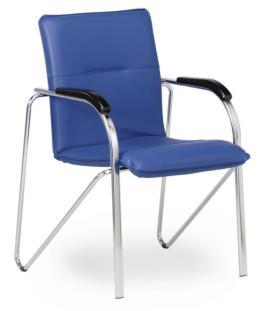 103209 Bezoekersstoel,  4 poten ovale buis verchroomd