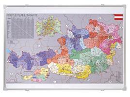 521861 Postcodekaart Oostenrijk,  HxB 700x1000mm