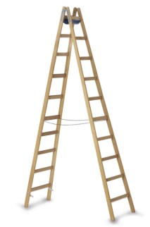 203632 Staande Ladder Met Sporten,  beide zijden