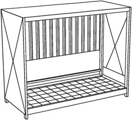 200373 Stellingcontainer V. Gevaarlijke Stoffen,  max. 3xIBC