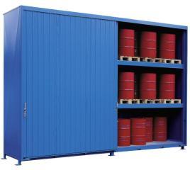 200348 Stellingcontainer V. Gevaarlijke Stoffen,  max. 60x200l vat