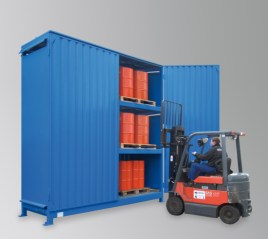 200364 Stellingcontainer V. Gevaarlijke Stoffen,  max. 36x200l vat