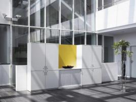 148214 kantoorkast met openslaande deuren,  HxBxD 825x800x445mm