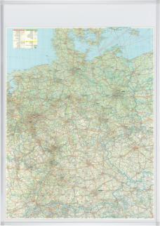 521858 Wegenkaart Duitsland,  HxB 1380x980mm