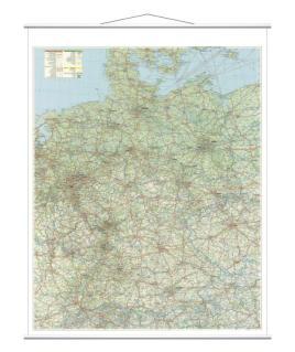 521860 Wegenkaart Duitsland,  HxB 1370x970mm