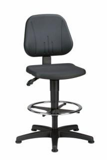 159360 Werkplaatsstoel,  ergonomische zitting zwart