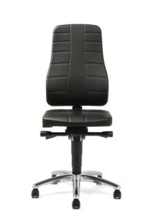 159376 Esd-Werkplaatsstoel,  zitting kunstleer zwart