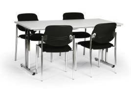 183588 Vergadermeubilair,  4 stoelen
