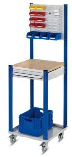143251 Verrijdbare Montagetafel,  HxBxD 1730x500x500mm