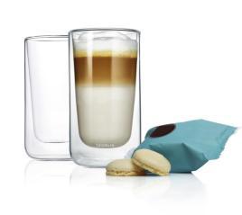 219587 Set Latte-Macchiatokopjes,  2 glazen