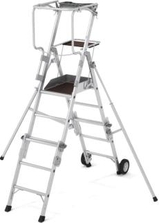 219805 Telescoop-Platformladder,  bordes HxBxD 1540-2300x400x500mm