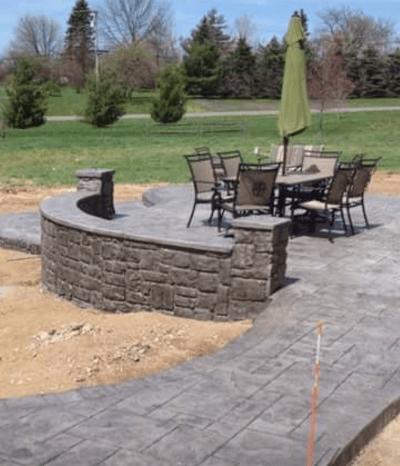 decorative concrete concrete patios
