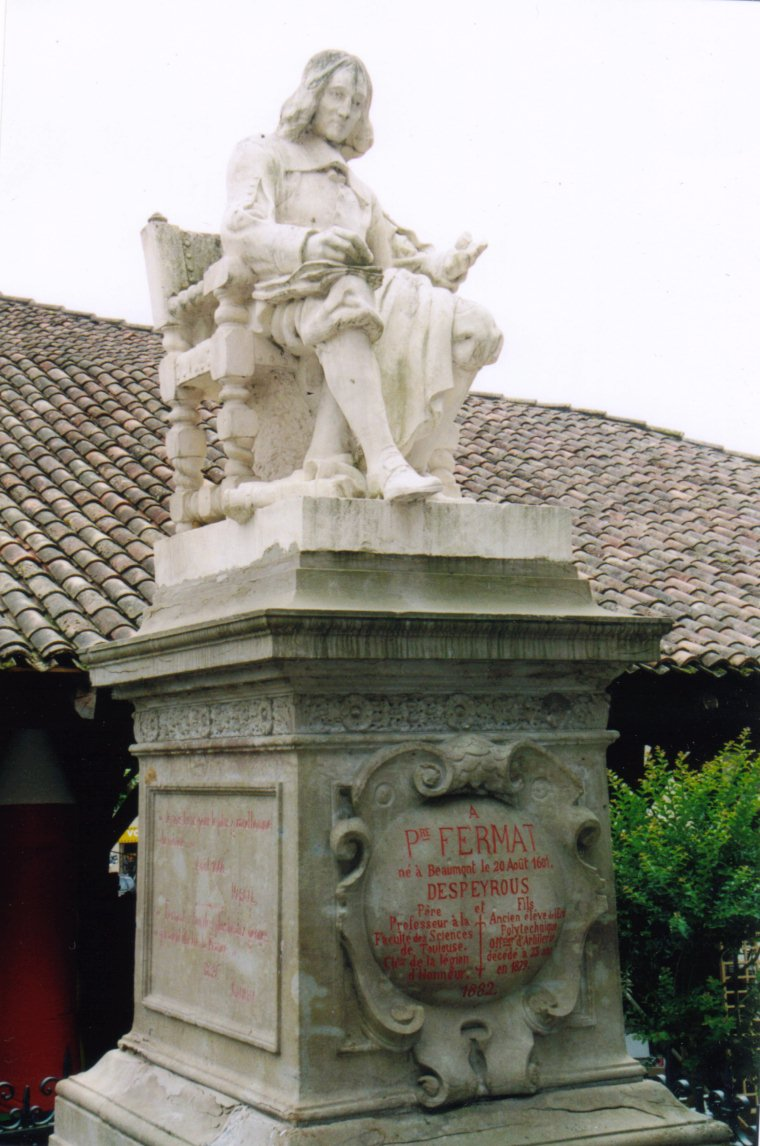 Denkmal zu Pierre Fermat / Monument for Pierre Fermat
