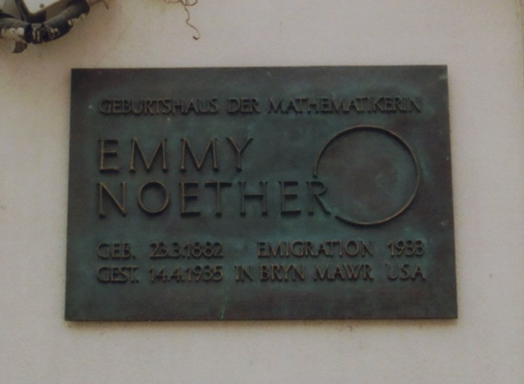 Tafel zu E. Noether / Plaque for E. Noether