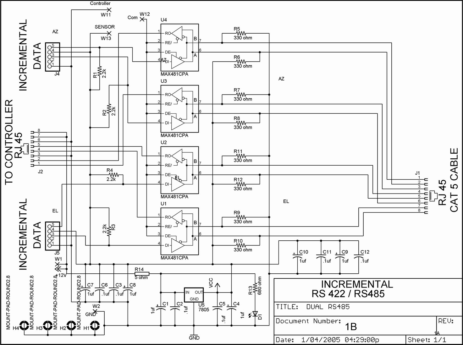 Modbus Serial Cable Diagram