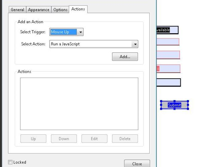 The Button Properties Dialog For A Submit Button