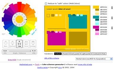 Online skema warna triadic