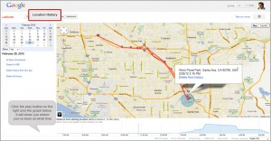 Google Latitude Location History Map
