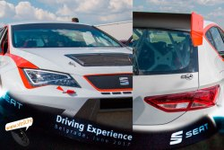 seat driving experience seat leon cup racer car